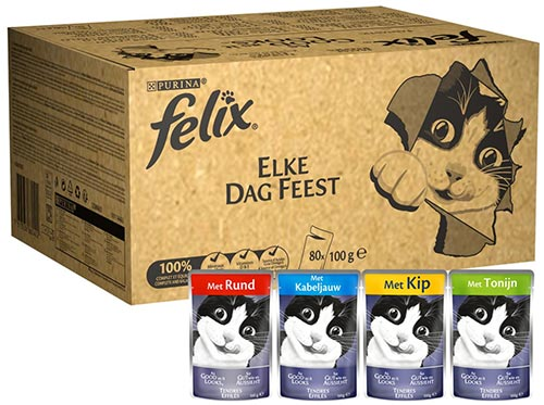 Aanbieding: Felix Elke Dag Feest - 80 x 100 gram