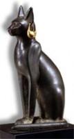 Egyptisch beeld van een kat