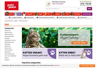 Bezoek de webshop van Pets Place