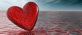 Symbolische illustratie van een rood hart