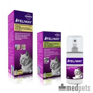 Feliway spray, bij spanningen, gedragsproblemen en angst.