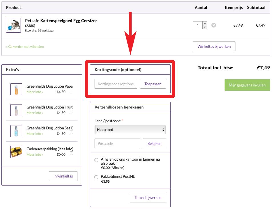 Hoe gebruik je kortingscodes voor Petsonline?